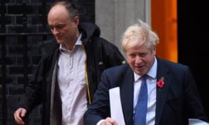Dominic Cummings pictured with Boris Johnson in October 2019.
