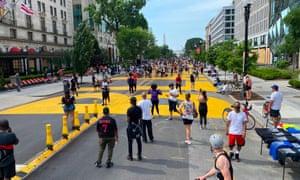 Black Lives Matter Plaza in Washington.