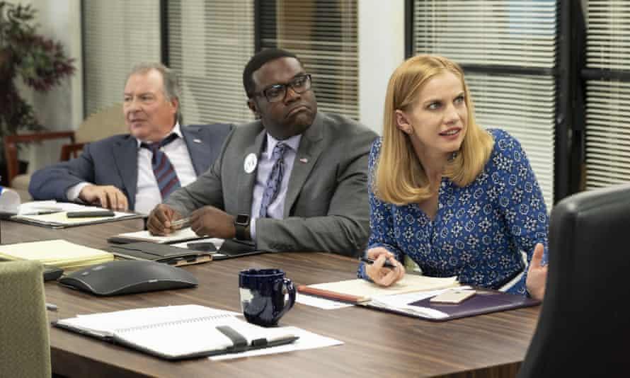 Kevin Dunn as Ben Cafferty, Sam Richardson as Richard Splett and Anna Chlumsky as Amy Brookheimer in Veep.