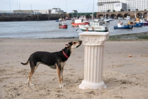 Folkestone, England To celebrate the re-installation of Art Buff, a painting by street artist Banksy, on Folkestone's Old High Street, Creative Folkestone has announced a new art project called The Plinth – placing 10 vacant plinths in various locations around the seaside town and inviting residents and visitors to use them to display their artistic talents