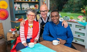 'A formidable presenting team' ... Prue Leith, Harry Hill and Liam Charles.