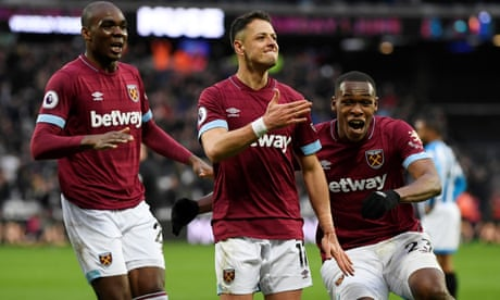 Javier Hernández the hero as West Ham beat Huddersfield in seven-goal thriller