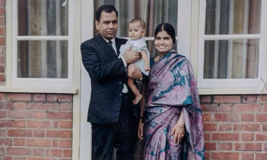 Muhammad Siddique with his wife, Saeeda, and daughter, Anjum, in 1970