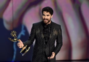 Darren Criss won for outstanding lead actor in a limited series or a movie for 'The Assassination of Gianni Versace: American Crime Story' .