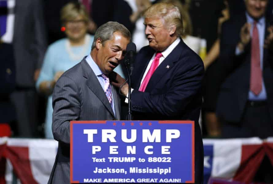 Nigel Farage and Donald Trump.