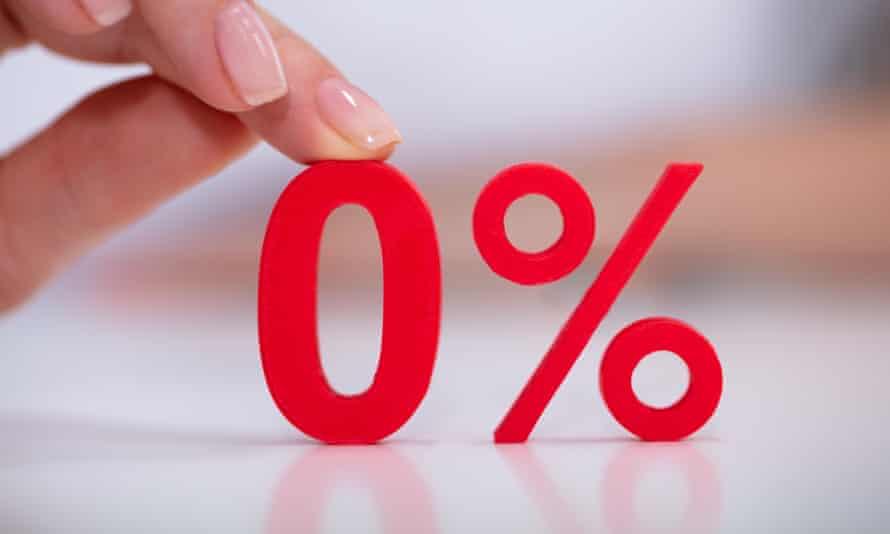 A 0% sign