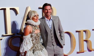Lady Gaga and Bradley Cooper at the London premiere of A Star Is Born.