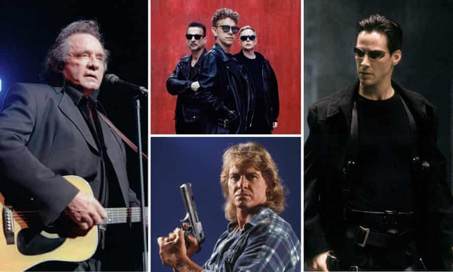 Johnny Cash, Depeche Mode, Roddy Piper in They Live and Keanu Reeves in The Matrix.