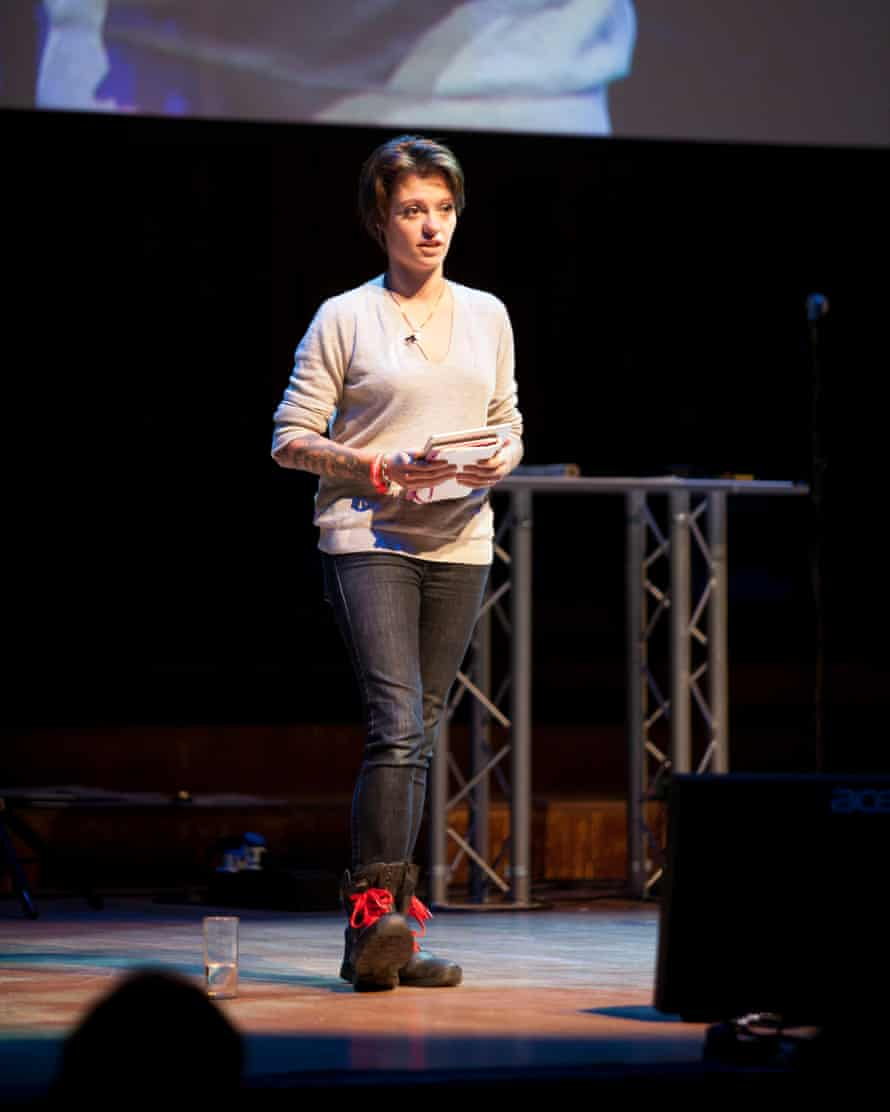 Nervous moment: Monroe at the Observer Festival of Ideas in 2014.