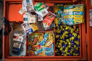 Cigarettes on sale (alongside sweets) in Nairobi, Kenya.