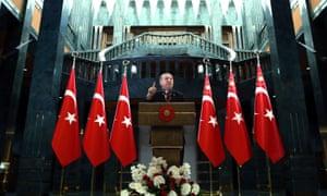 President Erdoğan delivers a speech