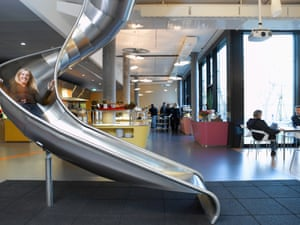 Way to go: going between floors at Google's Zurich office.