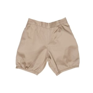 Brown bloomer shorts by Amaia Kids