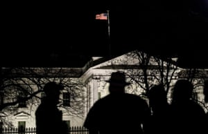 Exterior shot of the White House