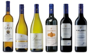 A selection of Aldi wines
