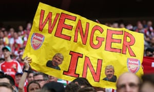 A group of Arsenal supporters make their feelings clear at the FA Cup final.