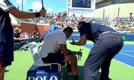 Umpire suspended for helping Nick Kyrgios at US Open