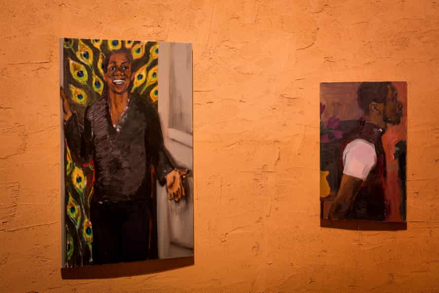 Paintings by Lynette Yiadom-Boakye at the pavilion.