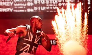 Stormzy on the Pyramid Stage at Glastonbury, 28 June 2019.