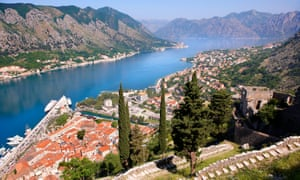 Sound it out … Kotor bay is a large sea inlet.