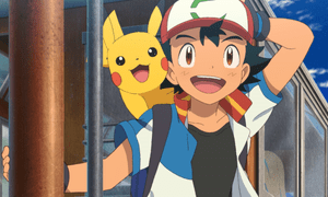 Ash and Pikachu in Pokémon the Movie: The Power of Us.