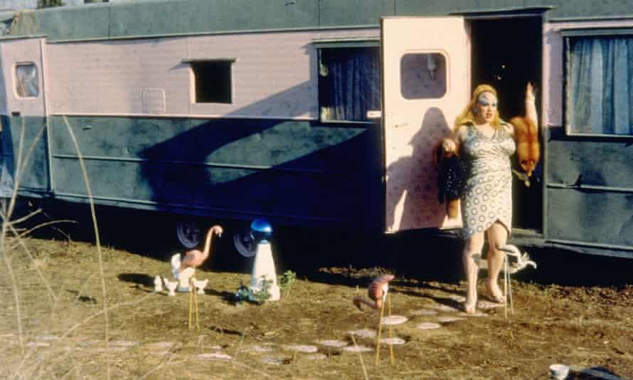 Divine in Waters' 1972 film Pink Flamingos.