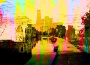 Dream Series - Regents CanalLayered images and digital painting describing the urban, often graffiti clad area around The Regents Canal in Hackney Photograph: Christos Richard Hatjoullis/GuardianWitness