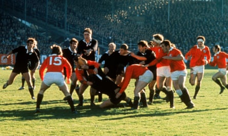 The first Test of the series in Carisbrook on June 26, 1971, which the Lions won 9-3.