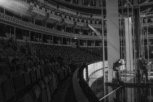The set design at the Albert Hall