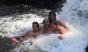 Silvia Bastos and family on holiday