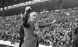 Bill Shankly at Anfield in 1973.