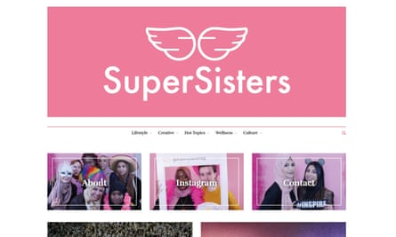 SuperSisters is promoted as 'a global platform for young Muslimahs in east London to share and create inspiring and empowering content'.