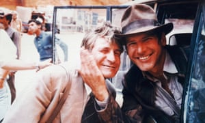 Bronco McLoughlin and Harrison Ford, right