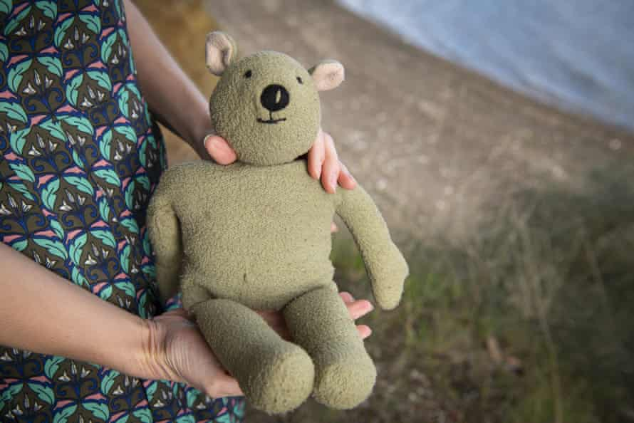 Cepeniuk got to use her own teddy bear for the ad, and take home the pyjamas that she wore in the shoot.