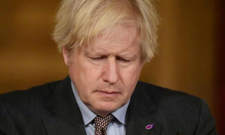 Boris Johnson leads a Downing Street news conference