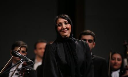 Nezhat Amiri at the Vahdat auditorium in Tehran.