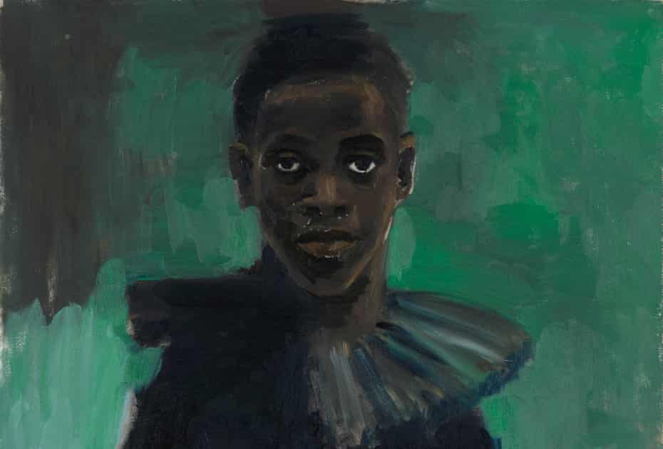 The solitude of a Watteau ... A Passion Like No Other by Lynette Yiadom-Boakye from Fly in League with the Night at Tate Britain.