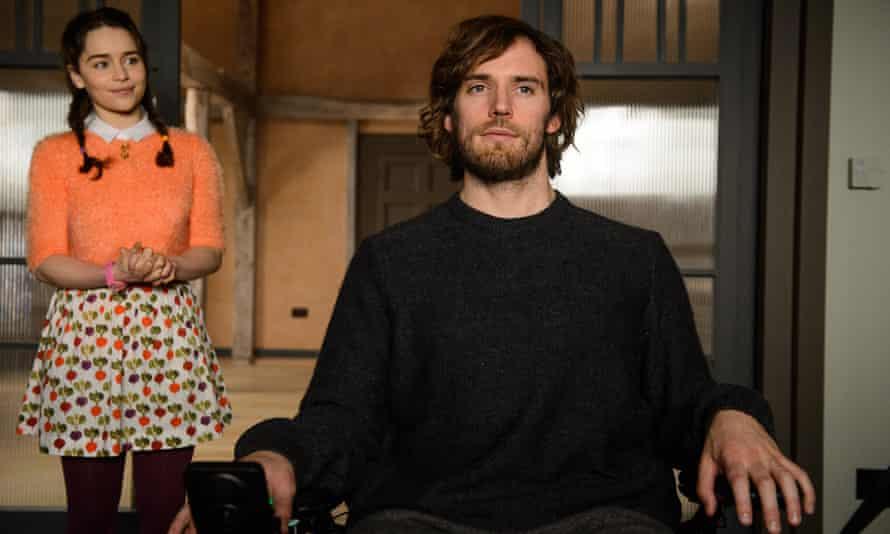 Emilia Clarke and Sam Claflin in a scene from Me Before You.