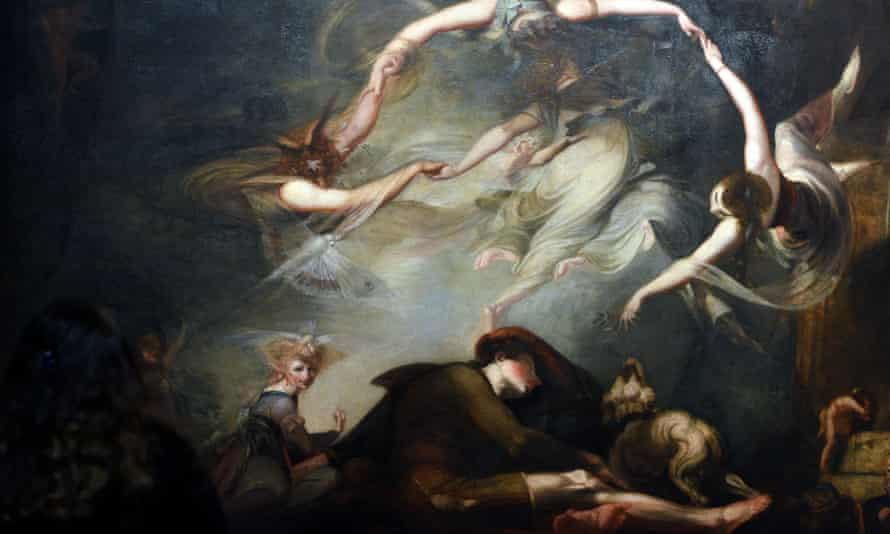 The Shepherd's Dream, from Paradise Lost,1793, oil on canvas, Henry Fuseli (1741-1825),Tate Gallery,London,England.The Shepherd's Dream, from Paradise Lost,1793, oil on canvas, Henry Fuseli (1741-1825),Tate Gallery,London,England.