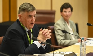 Secretary of the department of health Brendan Murphy speaks during a Senate inquiry at Parliament House in Canberra, Tuesday, 4 August, 2020.
