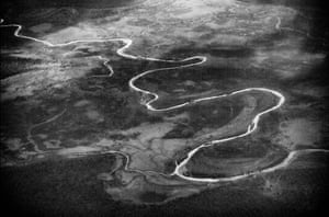 A tributary of the White Nile flows near Juba, South Sudan