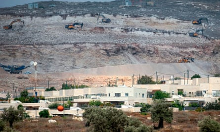 An Israeli settlement north east of Tulkarm city in the occupied West Bank.
