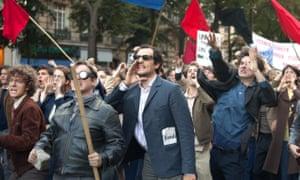 Louis Garrel in the Jean-Luc Godard biopic Redoubtable.