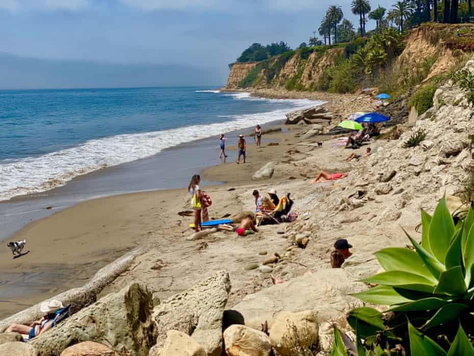 A beach in Montecito