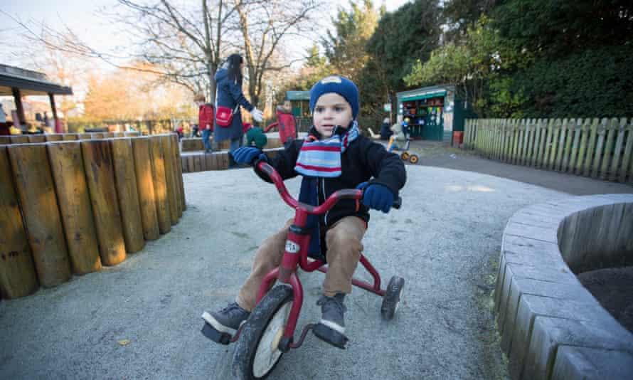 nursery child riding bike