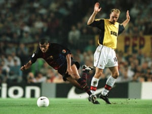Dennis Bergkamp travelled 929 miles on road to trip Rivaldo at the Camp Nou.