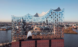Herzog & de Meuron's wavy glass Elbphilharmonie building on the waterfront