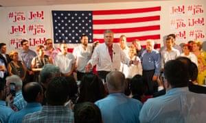 Governor Jeb Bush in Miami for the grand opening of the Jeb! 2016 Miami headquarters.