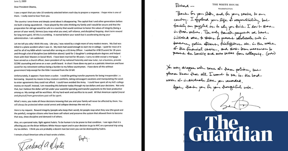 Obamas Letters To Fellow Americans In Pictures Books The Guardian