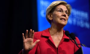 Elizabeth Warren speaks at the New Hampshire Democratic Party state convention in Manchester, New Hampshire.